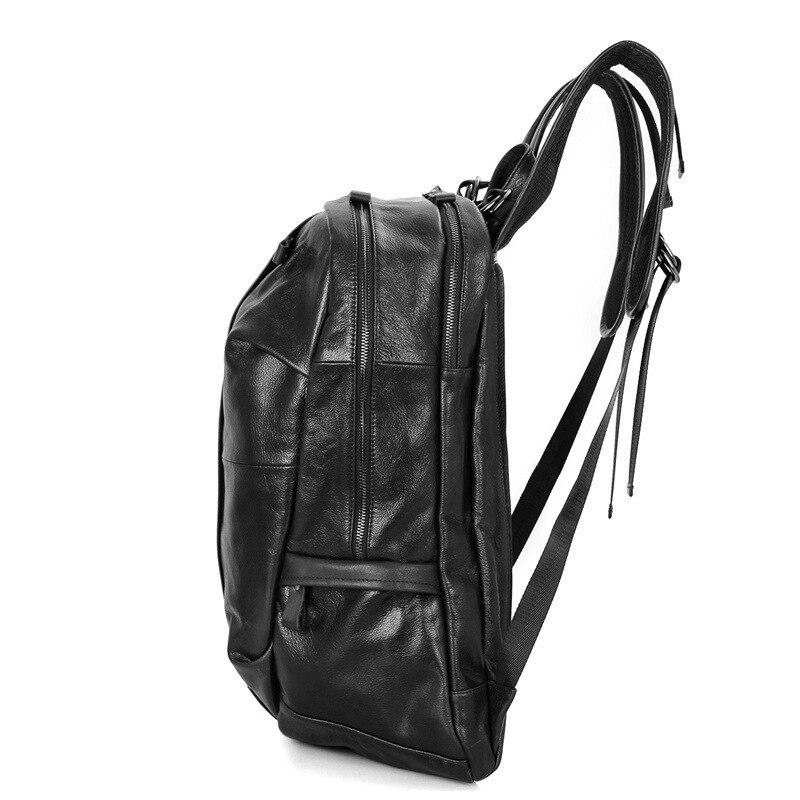 Mochila escolar de marca para niños y niñas, mochila de cuero de vaca a prueba de agua para hombre, mochila de viaje para ordenador portátil-in Mochilas from Maletas y bolsas    3