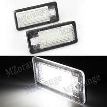 MZorange 2Pcs LED Car License Plate Lights Number Plate Lamp Bulb Kit For Audi A3 S3 A4 S4 B6 B7 A6 C6 S6 A8 S8 RS4 RS6 Q7 romanson tl 0381 mw bk