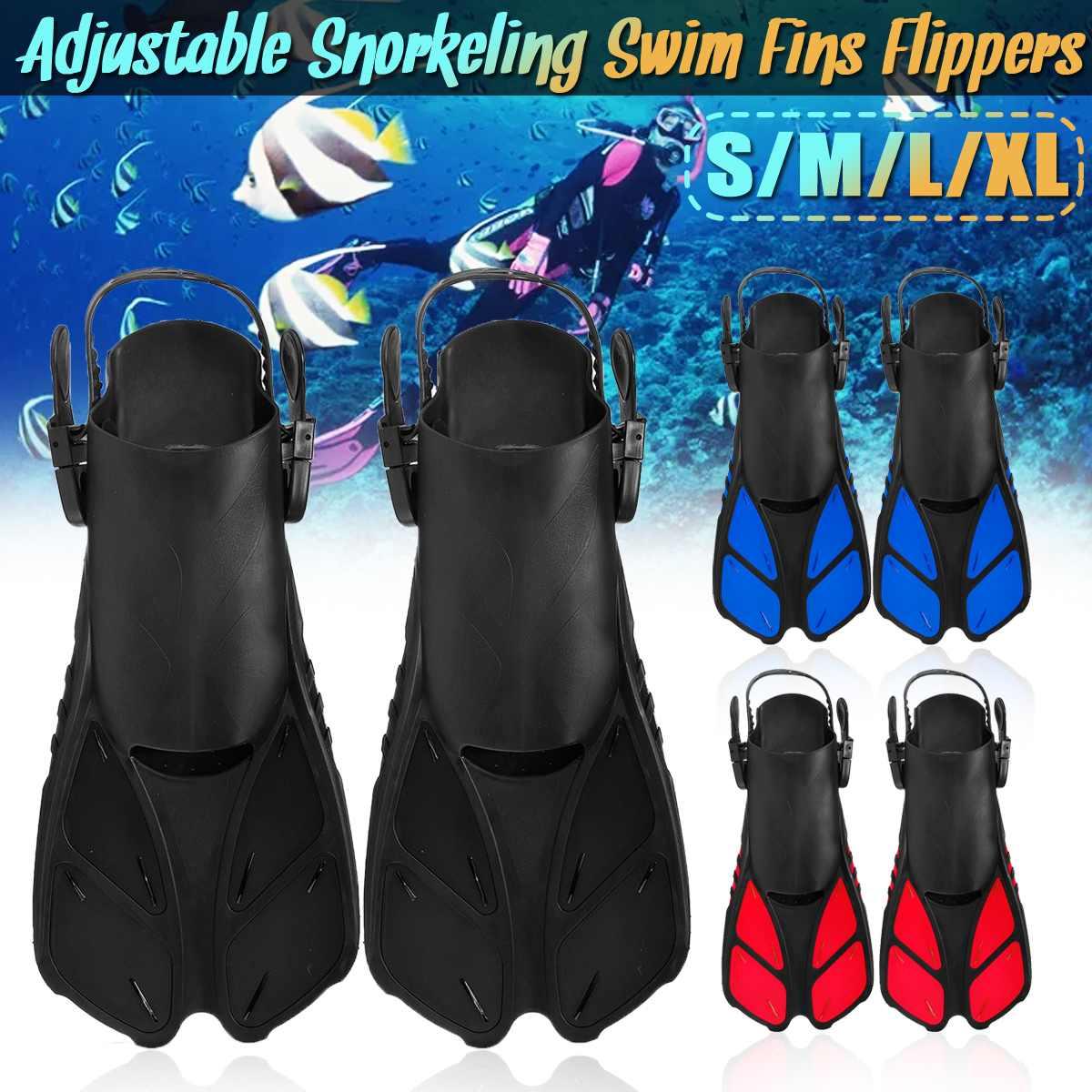 Palmes de natation réglables pour adultes palmes professionnelles palmées formation pieds chaussure de plongée en apnée fournit des palmes de plongée flexibles