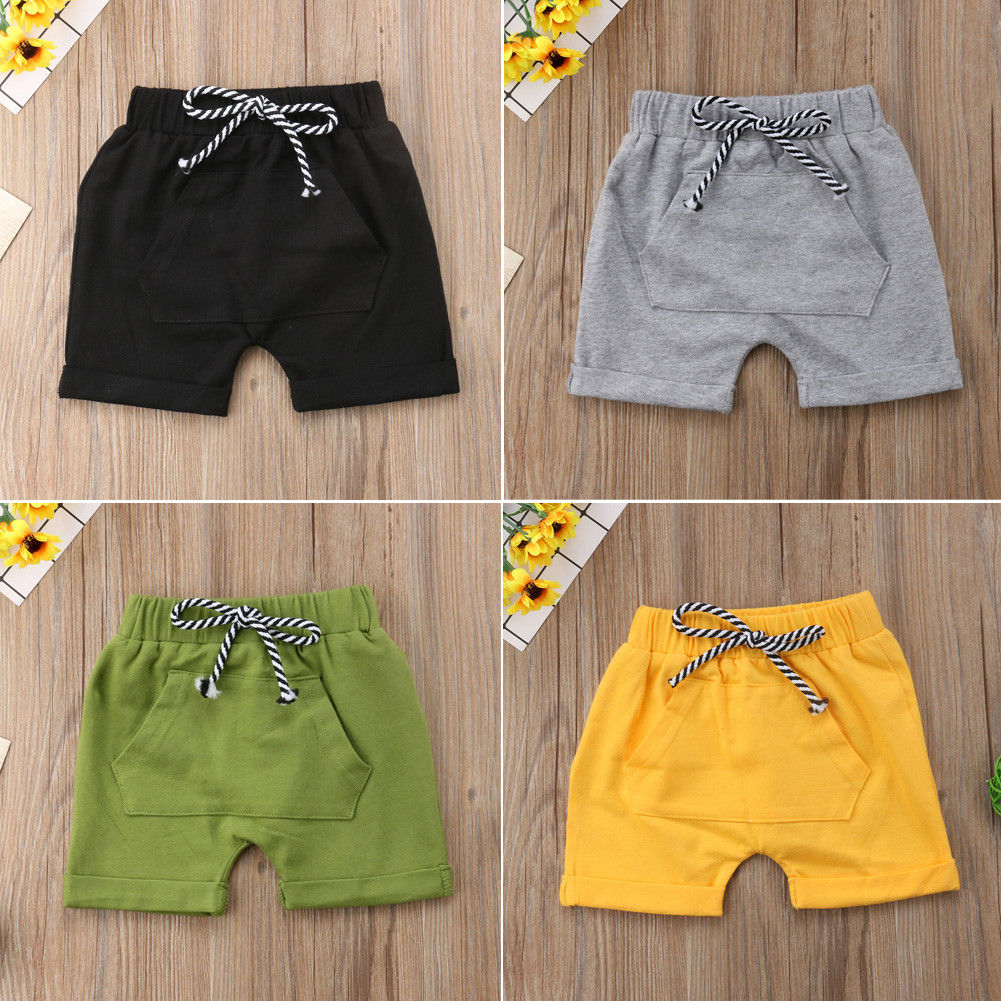 New Kids Baby Boy Girl Casual   Shorts     Short   Pants Toddler Infant Casual Brief Cotton Portable   Shorts   With Pocket