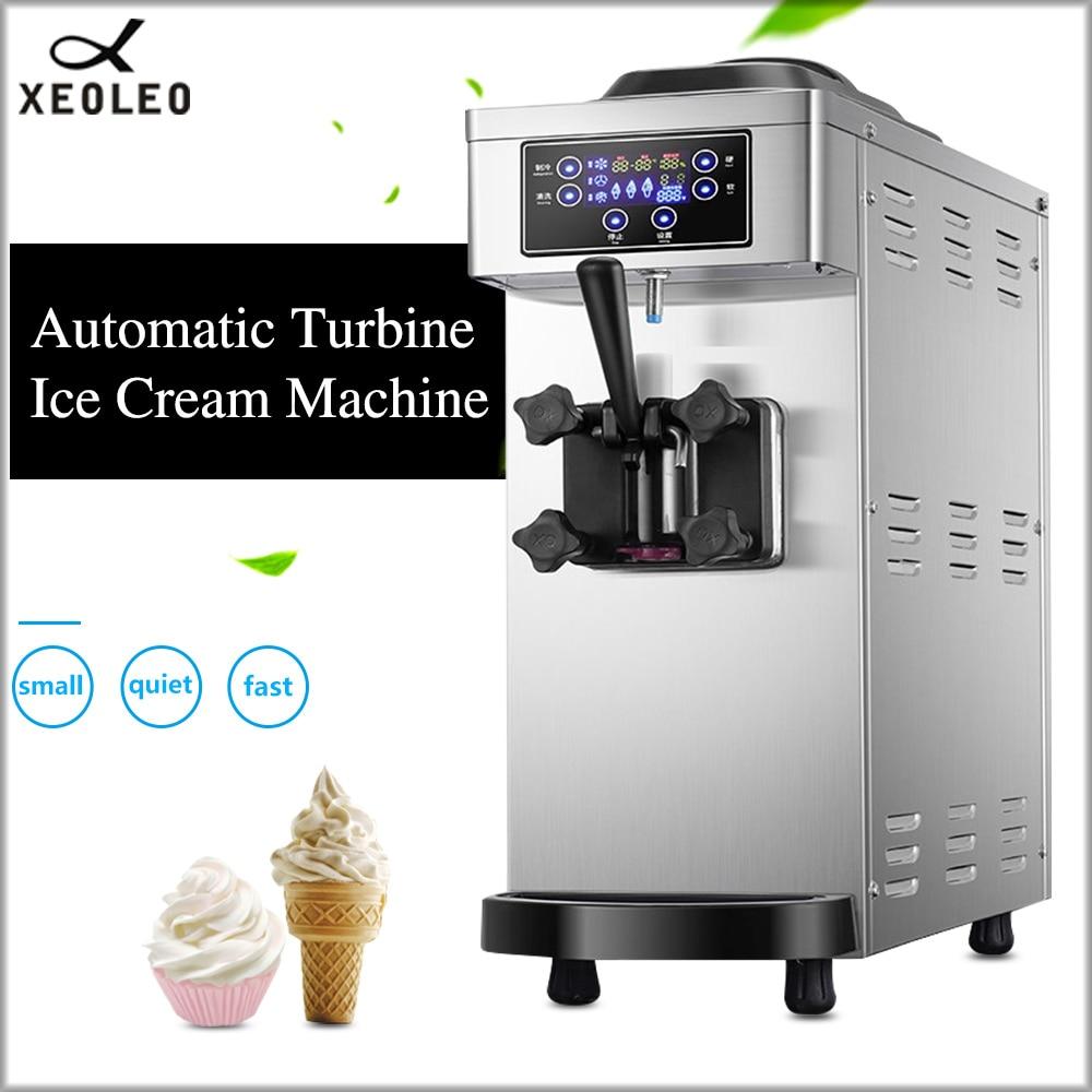 XEOLEO machine à crème glacée à saveur unique Mini machine à crème glacée en acier inoxydable avec pompe et machine à yaourt commerciale fraîche 1100W
