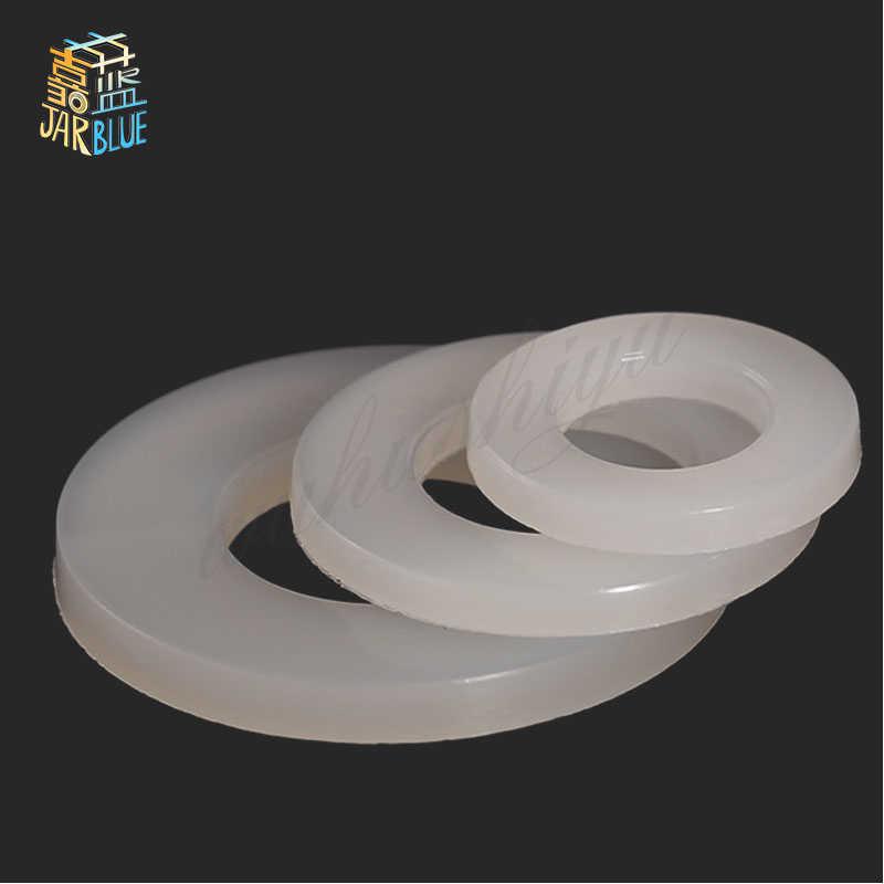 200 PCS 500 PCS DIN125 ISO7089 M2 M2.5 M3 M4 M5 M6 M8 M21 สีขาวพลาสติกเครื่องซักผ้าไนล่อนแบน spacer ซีลเครื่องซักผ้าปะเก็นแหวน