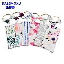 DALEMOXU 2PCS Cocoon Baby Summer Sleeping Bag Envelope Swaddle Sleep Sack For Newborns 0-3 Month Flower Bedding Accessories