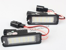 2Pcs LED Number License Plate Light Lamps For VW GOLF 4 5 6 7 Polo 6R 12V Car Exterior Accessories Lights Quality