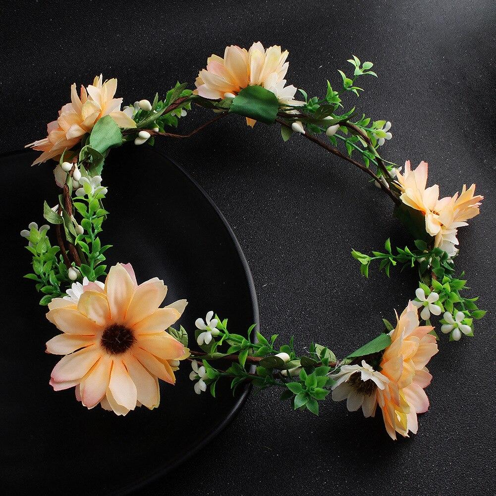 a6bc995bffa 2018 NEW Women Hair Accessories Girl Flower Crown Wedding Wreath Fashion  Party Headwear Bohemia Flower Crowns