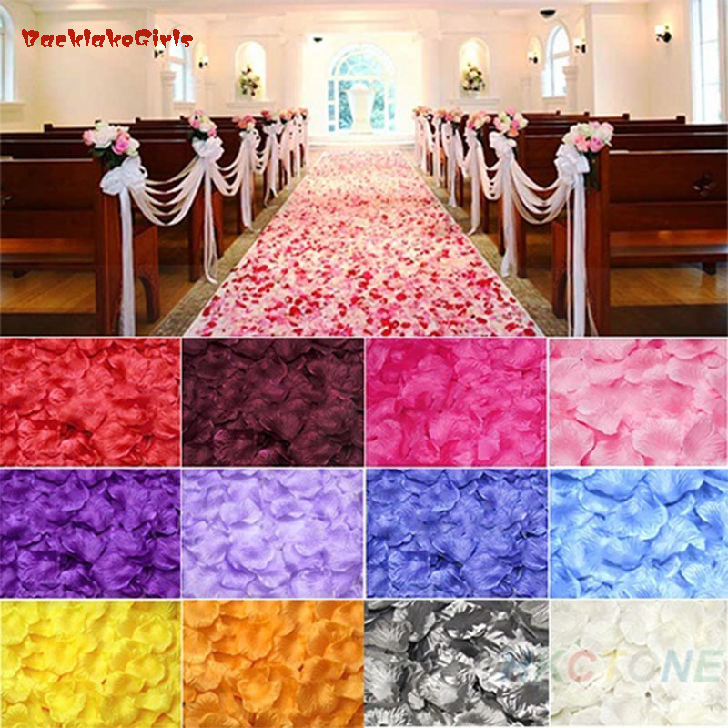 20000pcs Silk Rose Flower Petals Leaves Wedding Table Decorations