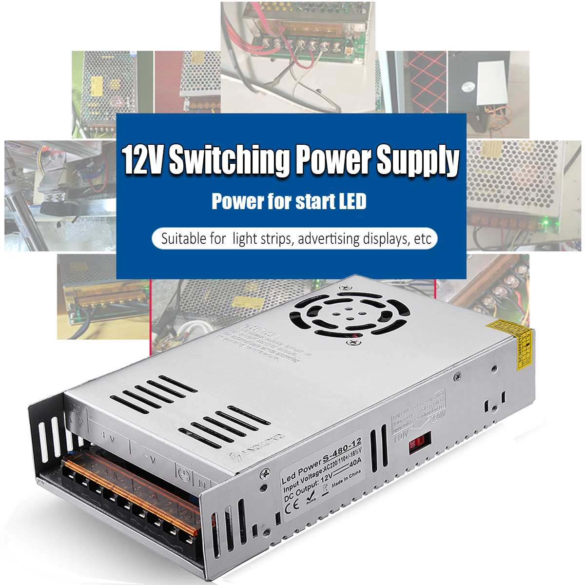 Size : 220V DC Voltage Regulator Adjustable Switch Type High Power 30V 20A Electroplating Charging Repair Power Supply