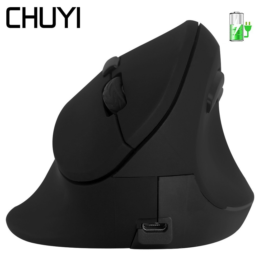 2.4Ghz Wireless Vertical  Mouse Rechargeable Ergonomic Mice For Big Hand Optical Computer Gaming 1600DPI Mause For PC Laptop
