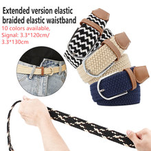 Braided Elastic Stretch belt men women strap casual pin buckle belts for men belt Cummerbunds ceinture мужской ремень braided belt pin hhm 021