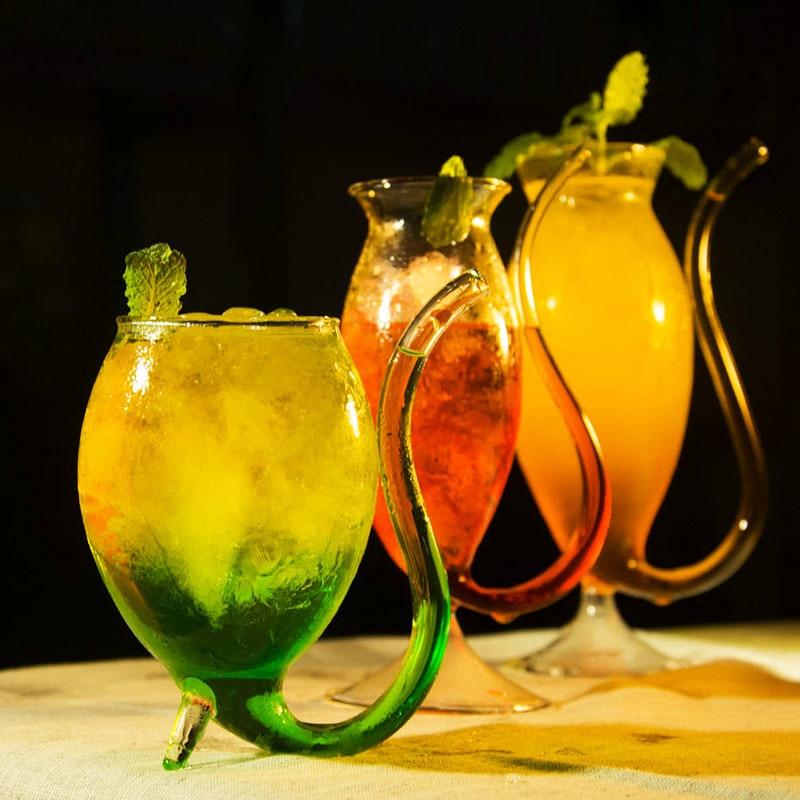 Ventouse de sang molécule Cocktail cristal coupe Bar Saloon Martini arrêt cardiaque vaisseau sanguin paille vin verres éméché Verre a vin