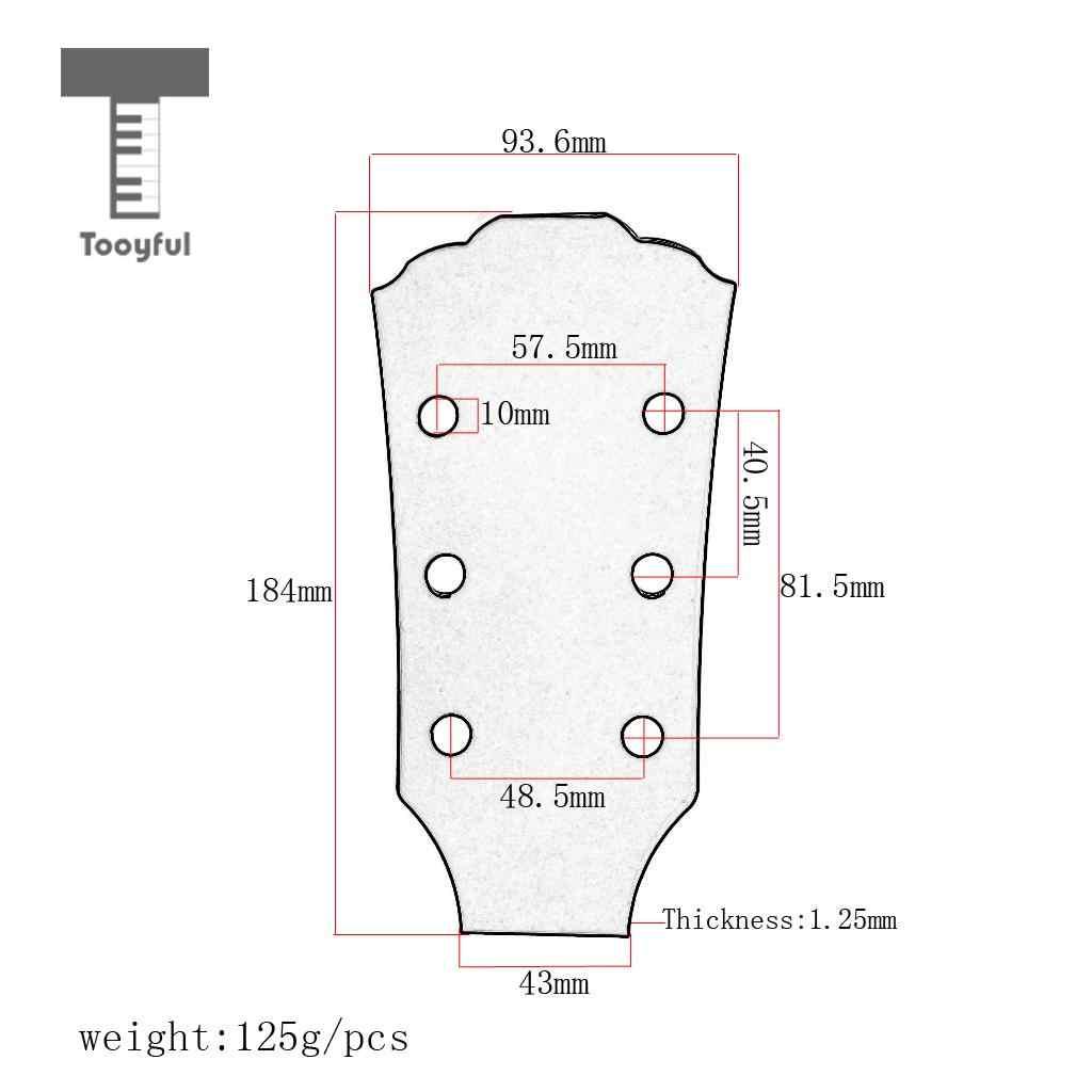 tooyfuk practical diy steel guitar head template mould for les paul electric guitar accessory