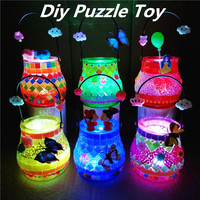 1PCS DIY 3D Vase Model Puzzle Game For Children Kid Early Learning Handmade Toys Child Mosaics Sticky Crystal Art Craft Toy
