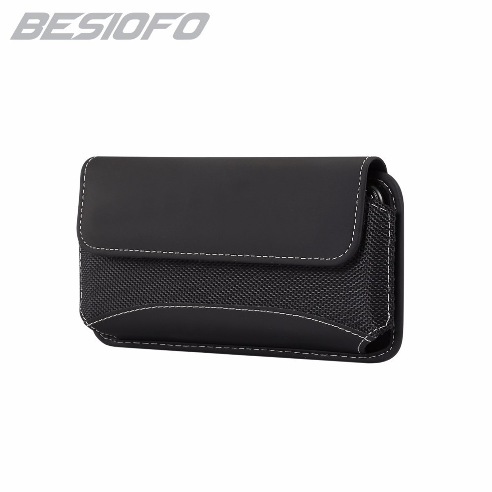 Phone Case With Belt Clip Waist Pouch Durable Oxford Cloth Bag Horizontal Cover For Huawei Mate S Mate 7 8 9 Mate 10 Nova 2 3 image