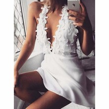 Try Everything Summer Beach Dress 2019 White Women Short Backless Sexy Mini Spagetti Strap Ladies Dresses For