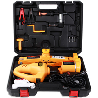 12V 100W Fully Automatic Electric Scissor 3Ton Car Lift Jack Electric Car Wrench Repair Tire Wheel Chang Kit With A Night Light