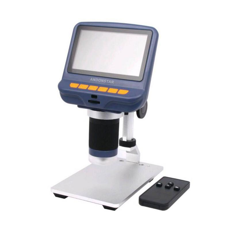 Image 2 - 4.3 Inch LCD Digital Microscope Durable USB Adjustable Light Microscope HD LED Display Screen For Phone Repair Soldering Tools-in Microscopes from Tools