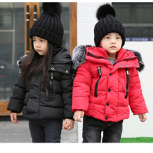 New Kids Toddler Boys Jacket Coats Thick Warm Down Children Outerwear Clothing Baby Boy Clothes Winter Child Windbreaker 2016 winter boy girls down jacket outerwear children brand design zipper hooded down coats good quality baby boys warm clothes