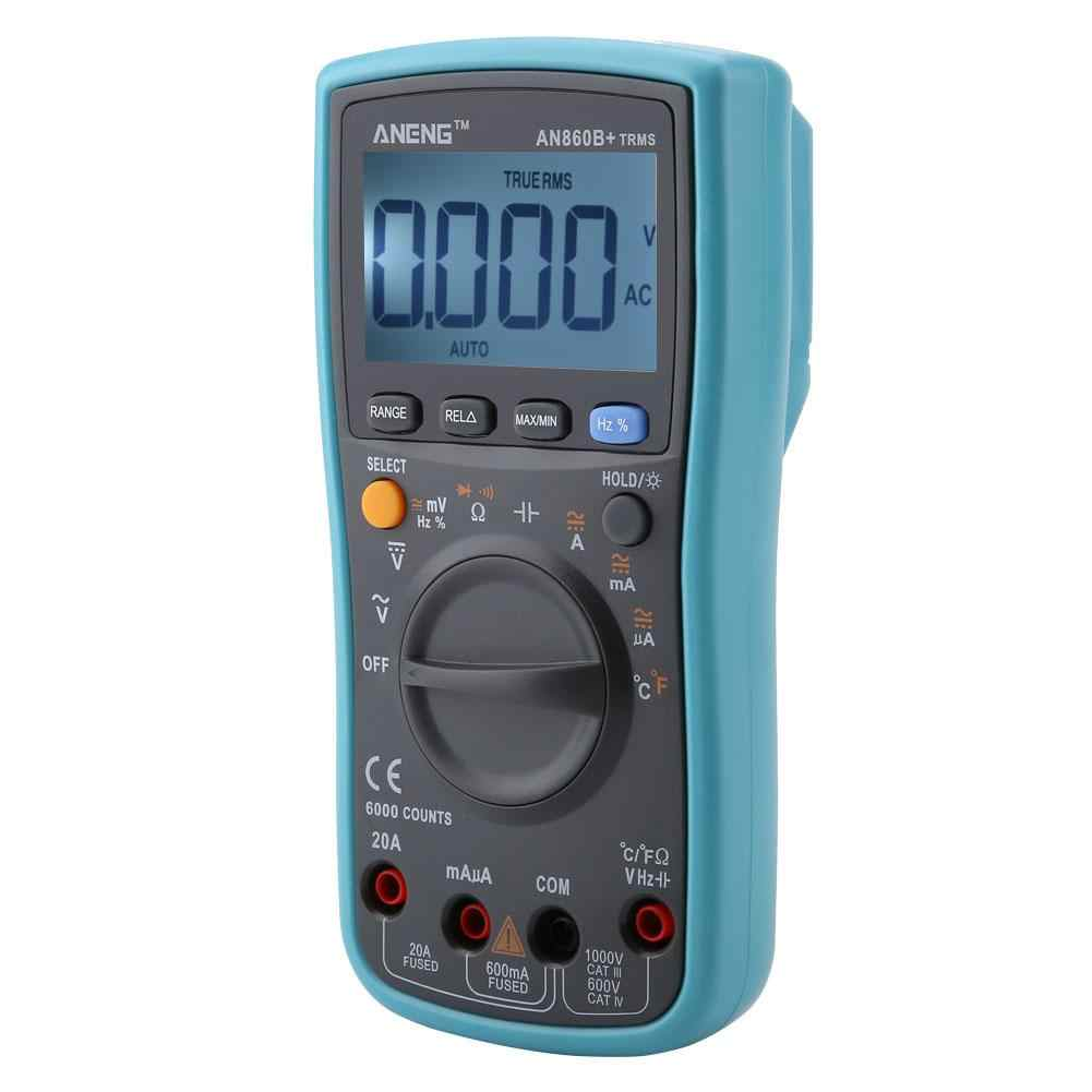 ANENG AN860B + Multimetro Digitale AC/DC Amperometro Voltmetro Temperatura Meter 6000 Conti Multimetro