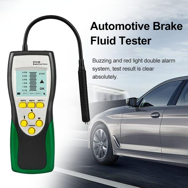 Car Brake Fluid Tester Digital Brake Fluid Inspection Check Car Brake Oil Quality LED Indicator Display DY23B Diagnostic Tool