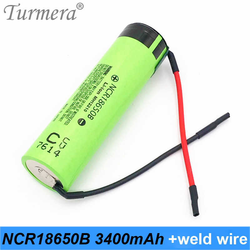 original 18650 3400mah ncr18650b welding wire 18650 rechargeable battery 3.7v 18650 for shura screwdriver and power bank battery
