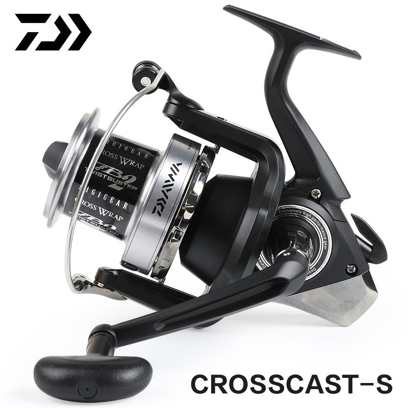 Original DAIWA CROSSCAST-S 5000/5500 Spinning Fishing Reel 3BB 4.9:1 RATIO 15KG MAX DRAG 635g Distant Wheel Lure Sea Fishing