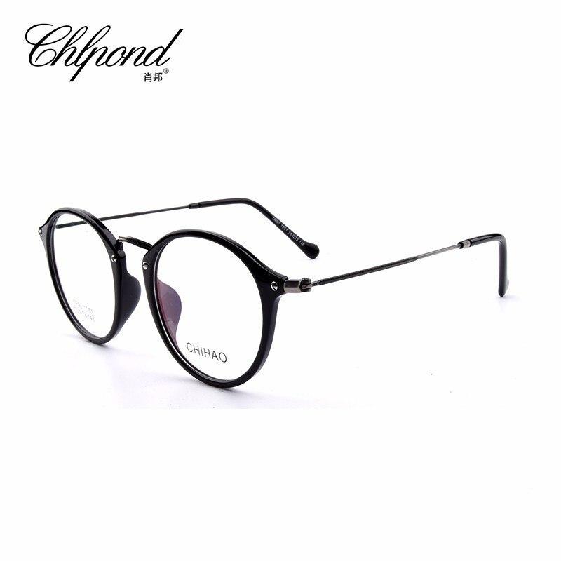 CHIHAO1051 высокое качество очки для мужчин Ретро Винтаж Анти Blue Ray рецепт очки женщин оптический зрелище рамки круглый