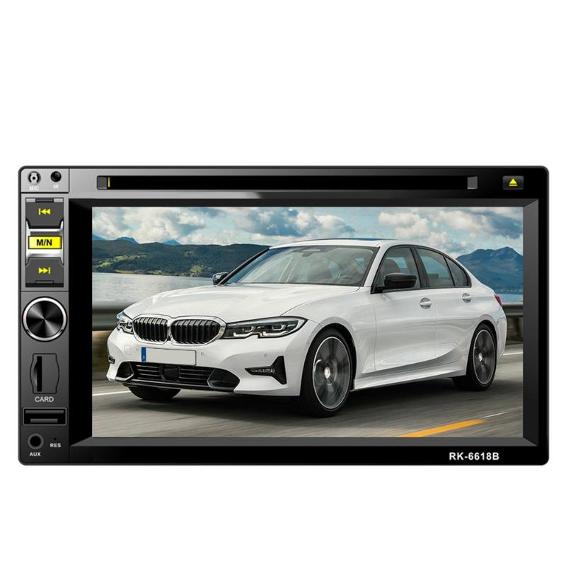 6.2 Inch Touch Screen 2 DIN Car Stereo DVD MP3 Player FM Radio BT TF USB AUX USB2.0 port Steering Wheel Remote Control6.2 Inch Touch Screen 2 DIN Car Stereo DVD MP3 Player FM Radio BT TF USB AUX USB2.0 port Steering Wheel Remote Control