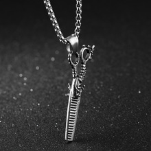 Корейский личность оригинальность прическа Отдел ножницы «дракон» цепочки и ожерелья Человек Мода высокомерие Титан Подвески hms031 shouzh
