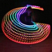 Светодиодный светильник для фитнеса с красочными кругами, для выступлений, абдоминальной потери жира, для фитнеса, кроссфита, складной, для занятий спортом, для тренажерного зала, для фитнеса