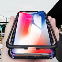 cell phone 360 shockproof cover tempered Glass magnetic Adsorption for xiaomi a2