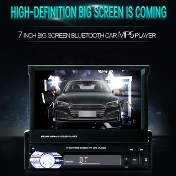 7 Car Car MP5 Player Stereo RDS AM FM Radio GPS Navigation Retractable 1 DIN Touch Screen USB Bluetooth usb