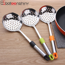 BalleenShiny Stainless Steel Large Skimmer Kitchen Accessories Oil Soup Colander Hot Pot Fried Food Dumpling Spoon
