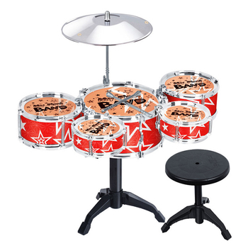 Children'S Kids Jazz Drum Set Jazz Drums Educational Instrument Toys Beginners Practice Set