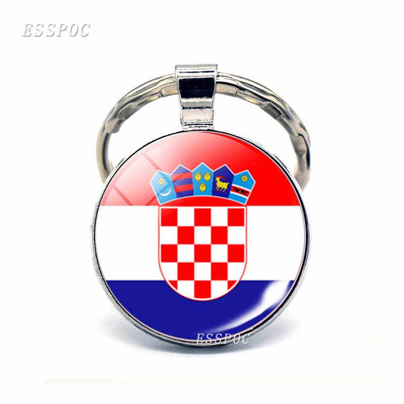 Zuidelijke Europese Landen Vlag Sleutelhanger Spanje Italië Portugal Griekenland Roemenië Kroatië Andorra Vlag Sleutelhanger Buitenlandse Vrienden Gift