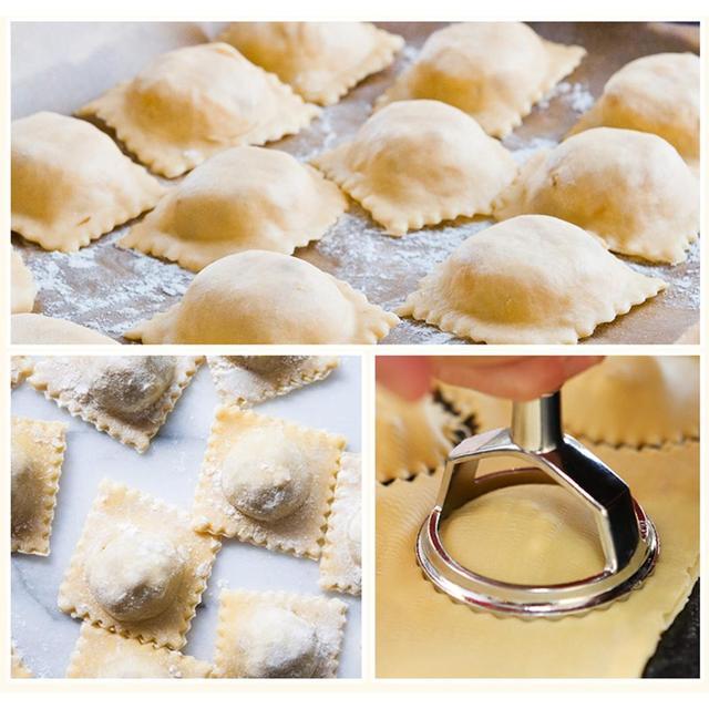 38cm Round Ravioli Stamp Pasta Cutter Make At Home Pastry Maker Molding Press Mould Kitchen