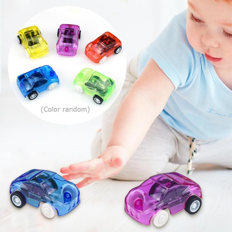 Diecasts & Toy Vehicles 1pc Funny Plastic Transparent Car Toy Pull Back Small Engineering Car Model Kid Toys Gift Random Color Diecasts Toy Vehicles