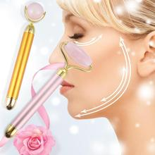 Facial Massage Roller Beauty Bar Jade Stone Face Lift Roller Face Vibration Skincare Relaxation Slimming Massager Tools