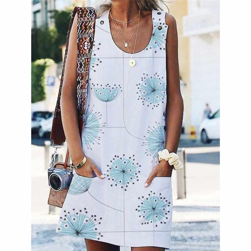 OMCHION Печатный A-Line Белое Женское платье сексуальное с открытыми плечами летнее платье 2019 повседневные пуговицы Карманы Короткие платья женские LQ417