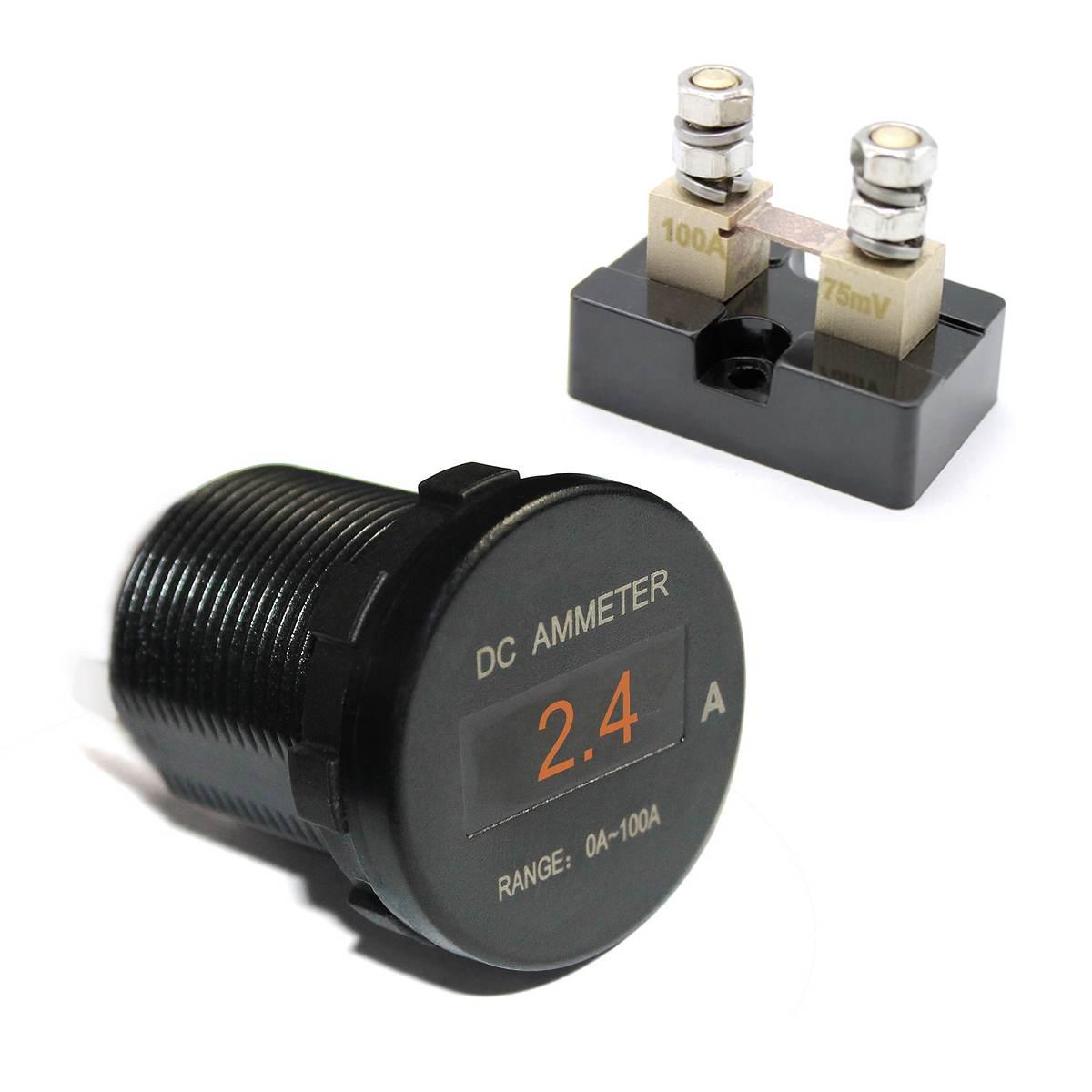 GemäßIgt Universal Auto Boot Marine Mini Digital Oled Dc Amperemeter Monitor Strom Amp Meter 12 V/24 V 5 Farbe Bildschirm Wasserdicht Ip66