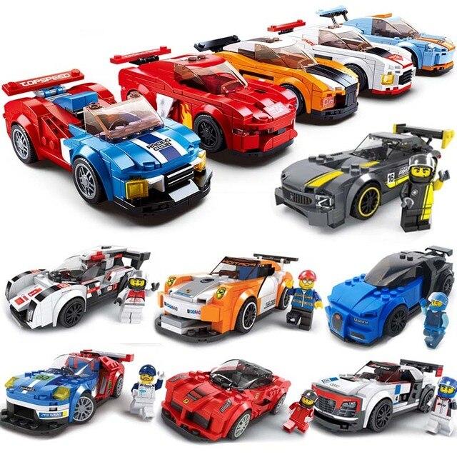 City Super Racers compatible legoed Speed Champions 2018 Supercar Racing Car model Building Blocks Bricks child Kids Toys sets