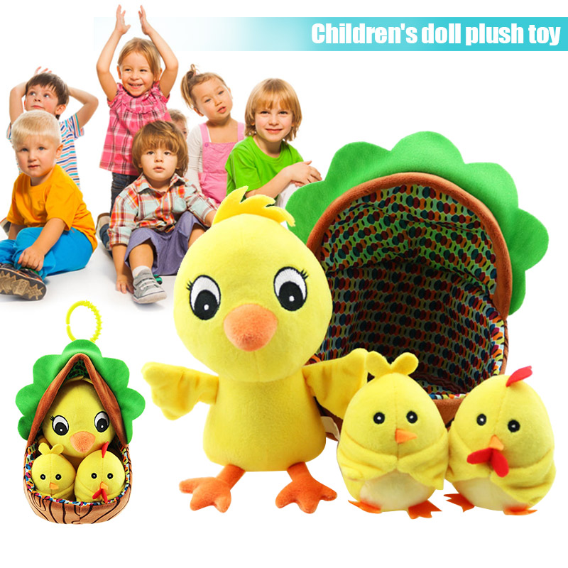 Loyal Cute Baby Plush Toy Cartoon Chick Hen Squeak Rattle Toy Music Flash Pacify Toys Yjs Dropship Sales Of Quality Assurance Stuffed & Plush Animals
