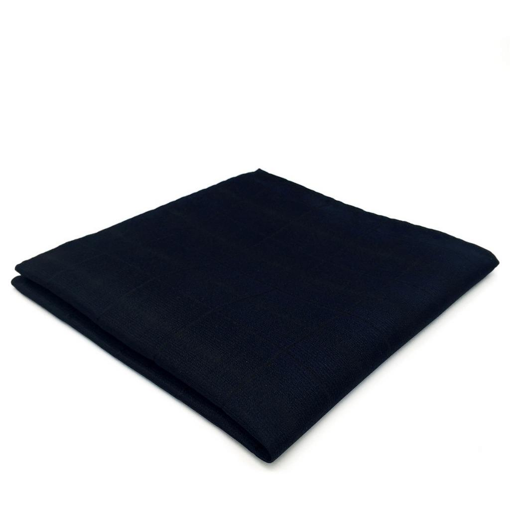 EH20 Mens Pocket Square Solid Navy Silk Groom Classic Handkerchief Fashion Dress Hanky