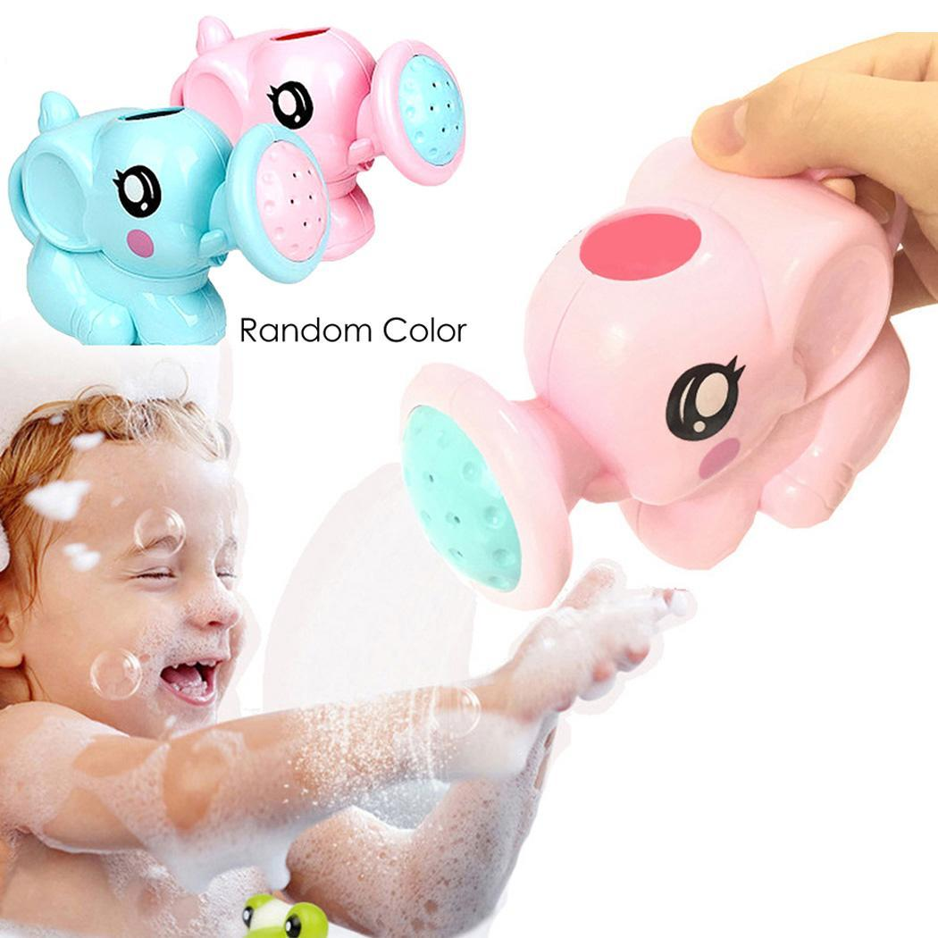 Cute Baby Cartoon Baby Bath Shower Tool Water Toys Newborn Plastic Elephant Watering Pot Bath Toys for Kids Children baby toys