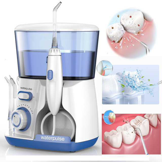 Pro V300G Electric Oral Irrigator 5pcs Tips Dental Water Flosser 800ml Oral Hygiene Water Flossing Tooth Cleaner Set