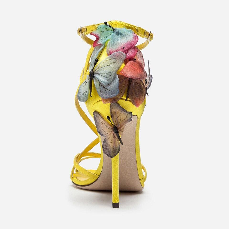 Es forme Chaussures D'été Papillon Sandales Femmes Black blue Ouvert Sexy Wedge Plate Talons Nouveau Bout Soie Spartiates Lacets Partie Hauts gold Rêveur À 5r5qEtw