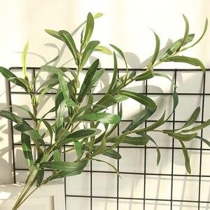 Image 5 - 1 * sztuczny kwiat 6 widelec sztuczne sztuczne kwiaty liść oliwny oddziału liści oliwnych liście dekoracji wnętrz bukiety ślubne roślin