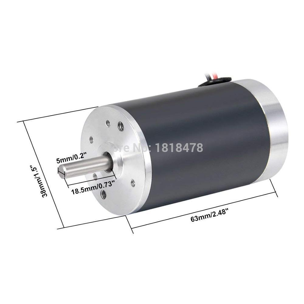 Uxcell DC 12V 50mA 5000RPM Electric Bicycle Boat Car Micro Motor Silver Tone