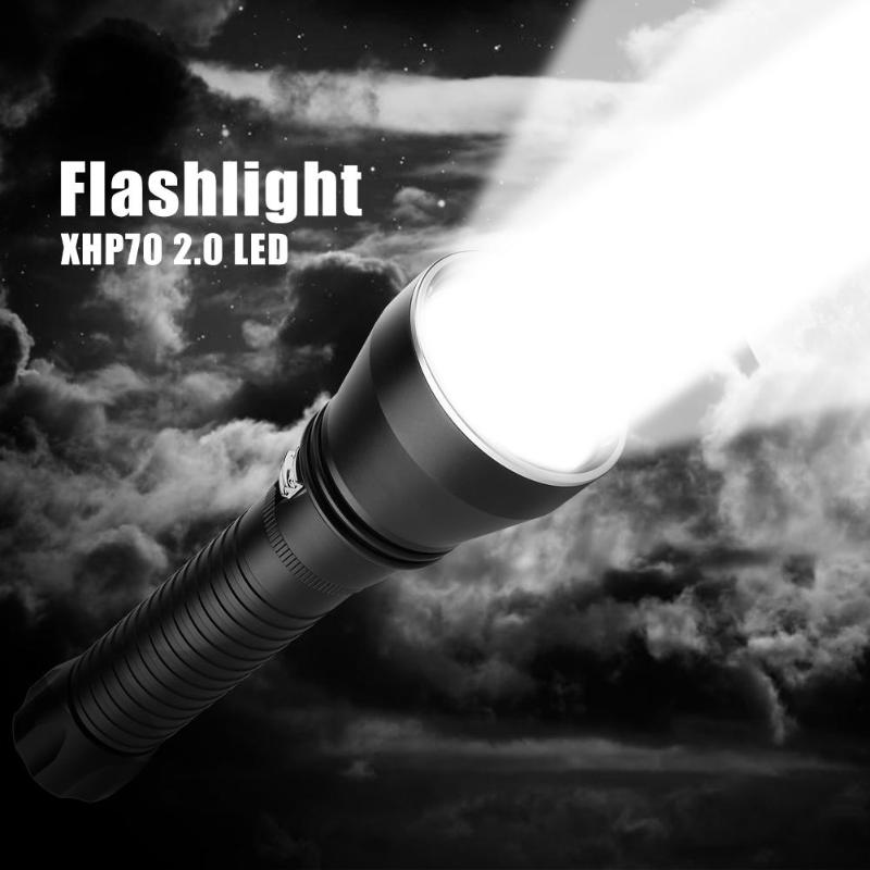 XHP70 2.0 LED Diving Flashlight 100m Waterproof Stepless Dimming Fill Light XHP70 2.0 LED Diving Flashlight 100m Waterproof Stepless Dimming Fill Light