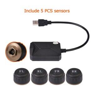 Image 5 - 5 uds. De Sensor USB Android monitor de presión de neumáticos TPMS/Android, sistema de alarma para supervisión de presión de neumáticos, compatible con neumático de repuesto