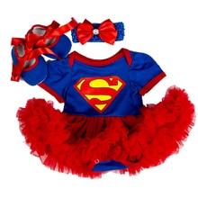 Купить с кэшбэком Christmas Baby Costumes Romper Dress Super Batman Cosplay Party Outfit Bebes Jumpsuit Newborn Baby Girls Clothes Infant Clothing